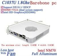 Promotional New arrival small computer with Celeron 1037U dual core 1.8GHZ CPU Intel HD Graphics mini pc Barebone pc
