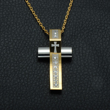 Christian Jewelry Cross Pendant Necklace Stainless Steel