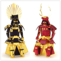 Sanada yukimura/Toyotomi Hideyoshi Japanese samurai armor 3D Metal assembly model puzzles The gift of desktop decoration