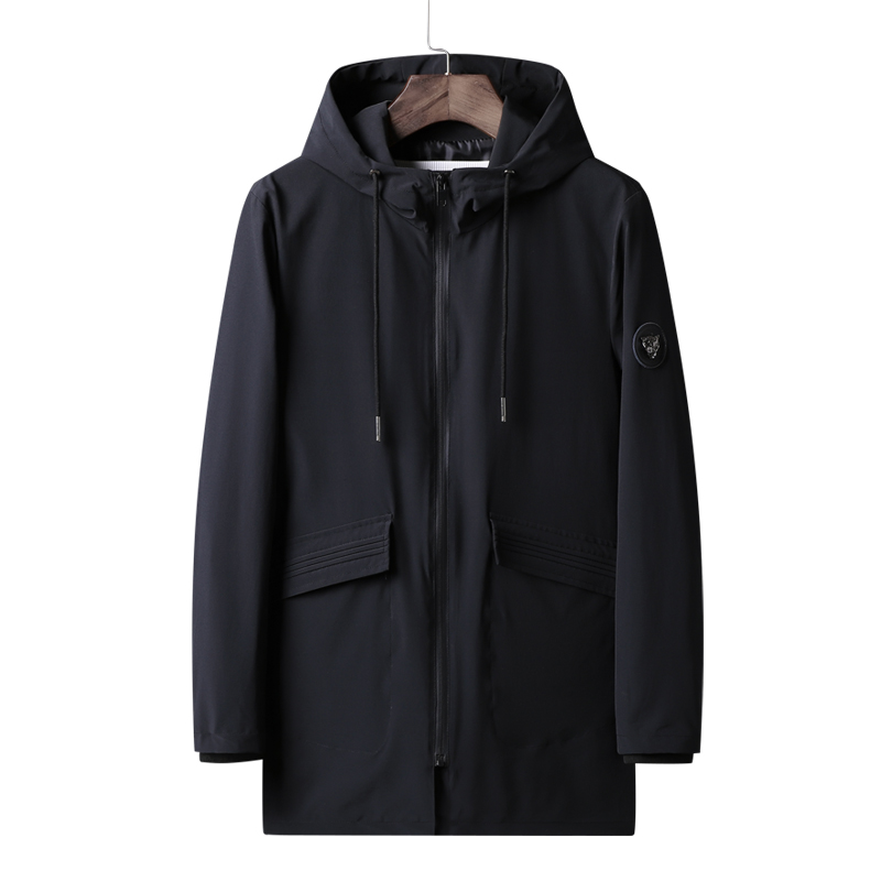 Anbican Brand 2018 Fashion Hooded Windbreaker   Trench   Coat Men Casual Zipper Jacket Long Trenchcoat Plus Size 6XL 7XL 8XL