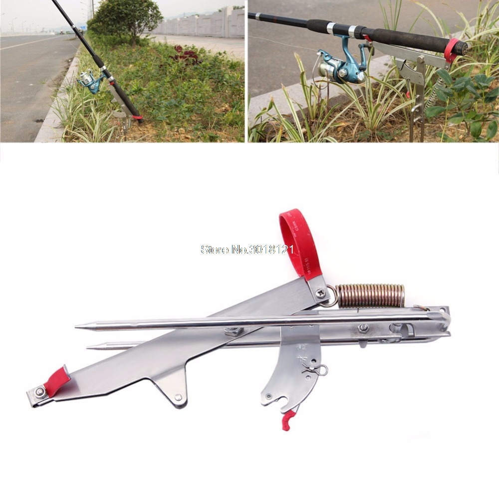 Great Stainless Steel Single Spring Sea Fishing Rod Pole Stand Bracket Holder