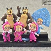 6 шт./компл. Россия Маша игрушка творческий Медведь кукла подарок для детей украшения торта детский день подарок