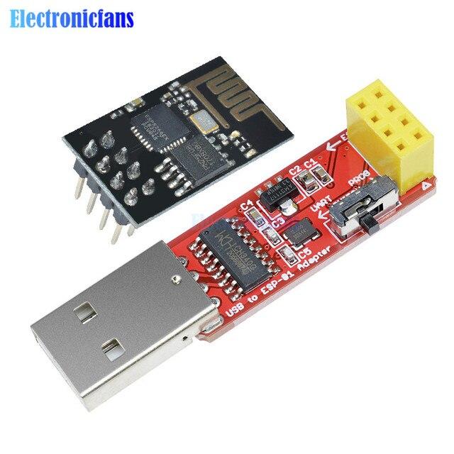 CH340 USB to ESP8266 Serial ESP-01 ESP-01S ESP01 ESP01S Wireless Wifi Developent Board Module for Arduino Programmer Adapter