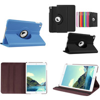 Classic Colors 360 Rotating Lichee PU leather+Hard Shell Case Cover Stand for Apple iPad Mini4 Mini 4 Tablet 7.9'' Folio Cover