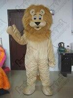 Новая оптовая продажа длинные волосы лев маскарадный костюм eva глава качество коричневый лев костюмы, Бесплатная доставка liong костюмы