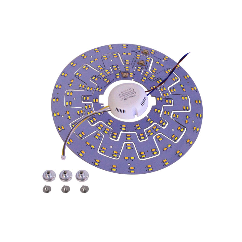 LED Tube DIY Replacement Ceiling Light Magnet Board PCB SMD5730 Double color White/Warm white 110-240V Panel Light + Drive 3w 20mm cree p4 aluminum pcb board with warm white led light silver