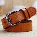 Nova marca Moda Feminina Weave Cós Cintos para As Mulheres cinto feminino Cinto de Couro Em Relevo, ceinture femme marque de W25