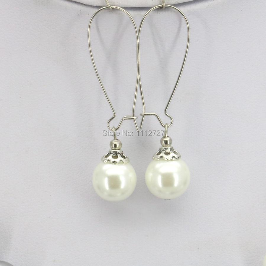 70db21c67a04 Accesorios Navidad regalos mujeres Niñas 10mm cristal blanco redondo perla  Cuentas collar joyería hacer diseño hecho a mano AdornosUSD 4.26 piece