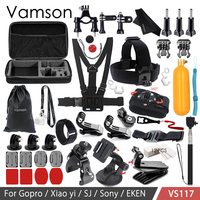 Vamson Accessories For GoPro Hero 6 5 4 3 Kit Floating Bobbe Head Chest Strap For
