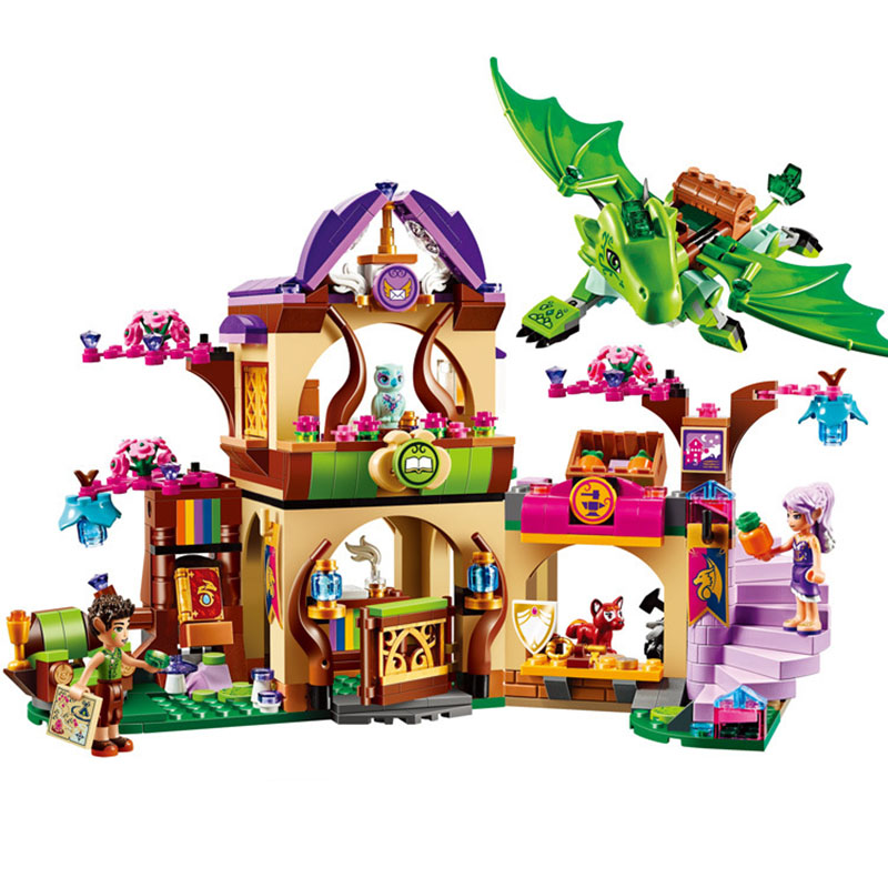 StZhou Elves Secret Place parenting activity education model building rus blocks girls and children's toys compatible lepin lego education 9689 простые механизмы