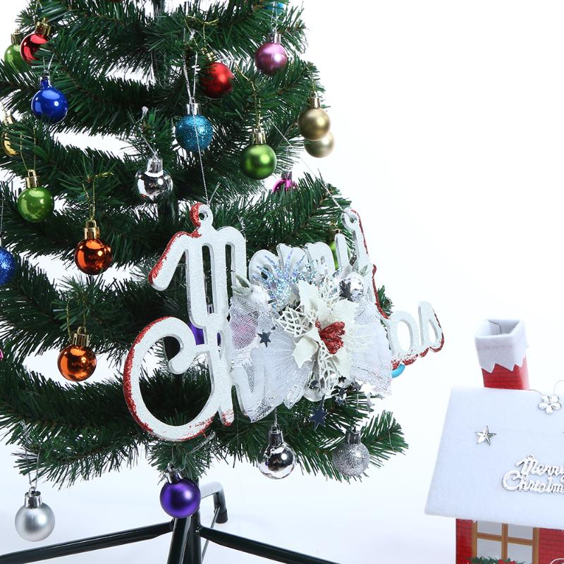 Merry Christmas Letter Card Pendant Tree Ornaments