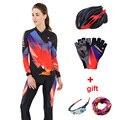 Женская одежда для велоспорта, набор, светоотражающий, длинный рукав, для женщин, s, для велоспорта, Джерси, Mtb, для езды на велосипеде, костюм, ...