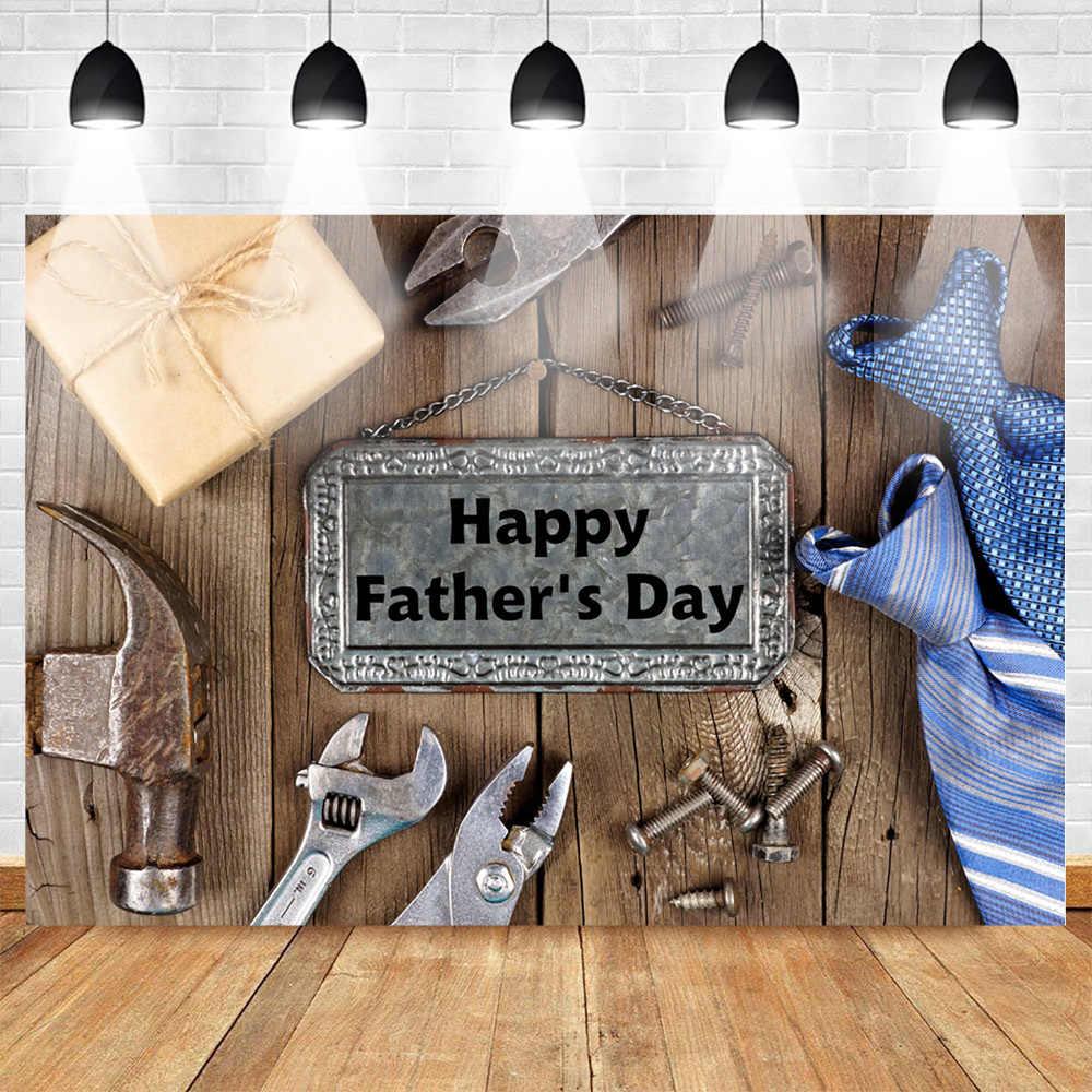 Mohofoto с днем отца фото фон для фотографии Фотофон деревянный пол фон инструмент ключ галстук подарок для папы