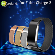 Stainless Steel Magnetic loop Milanese Bands for Fitbit Charge 2 Replacement Strap for fitbit Charge2 Wristband  Hot Accessories все цены