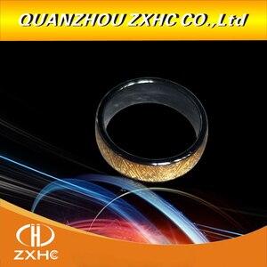 Image 5 - Золотое керамическое умное кольцо для пальцев с радиочастотной идентификацией 125 кГц/13,56 МГц для мужчин и женщин