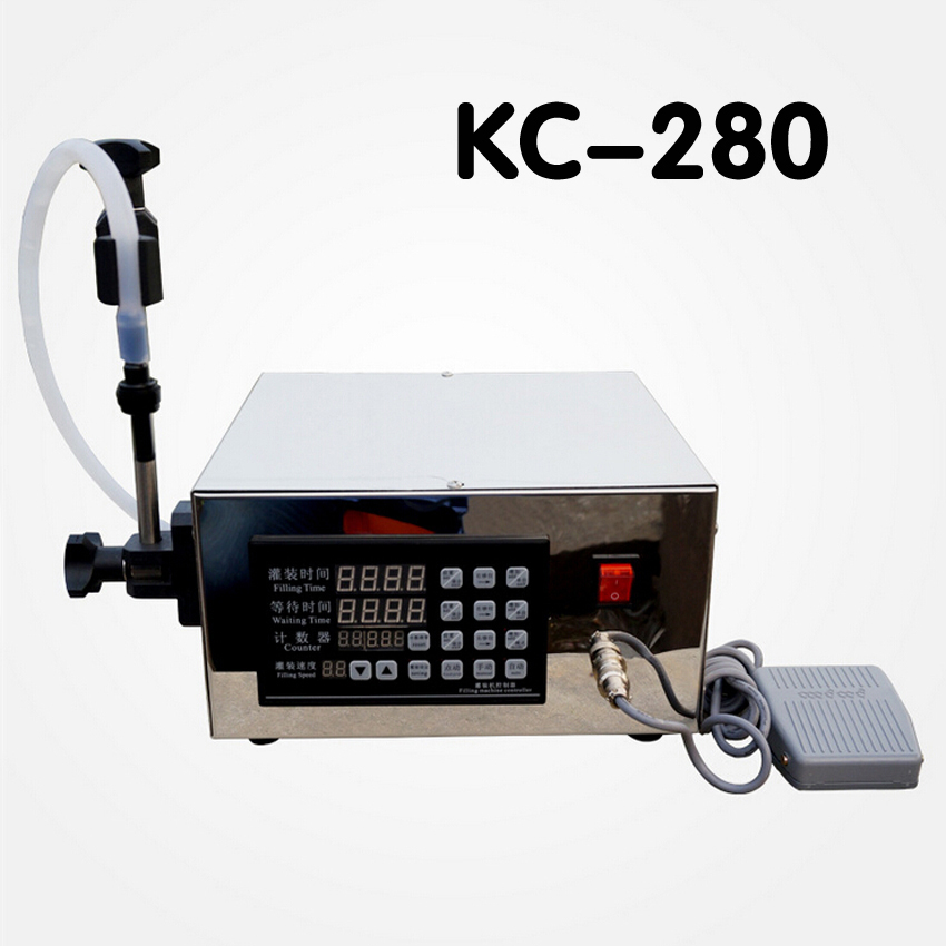 1 PC KC 280 Electric CNC Semi Automatic precision liquid filling machine filling machine corrosion NC