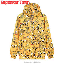 New Autumn Style Jake Dog  Hooded Sweatshirt Women and Girls