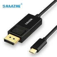 USB 3.1 USB SAMZHE C כדי DP/Displyport כבל סוג C DP ממיר חיצוני גרפיקת וידאו UHD 4 K 60Hz להאריך כבל/מתאם 1.2 m