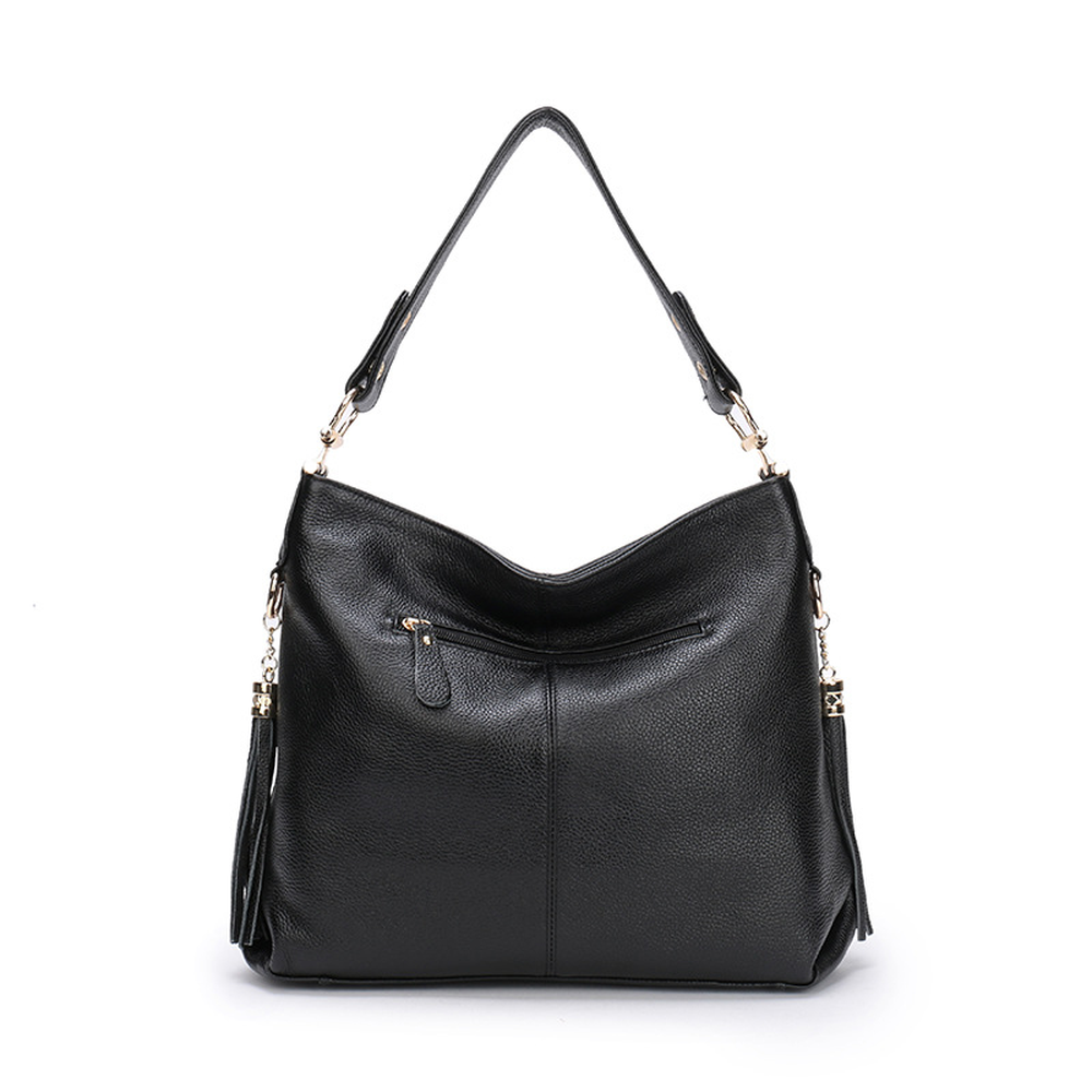 2018 New Tassel Handbags European American Style Fashion Solid Single Shoulder Women's Bags Large Capacity All-match Simple