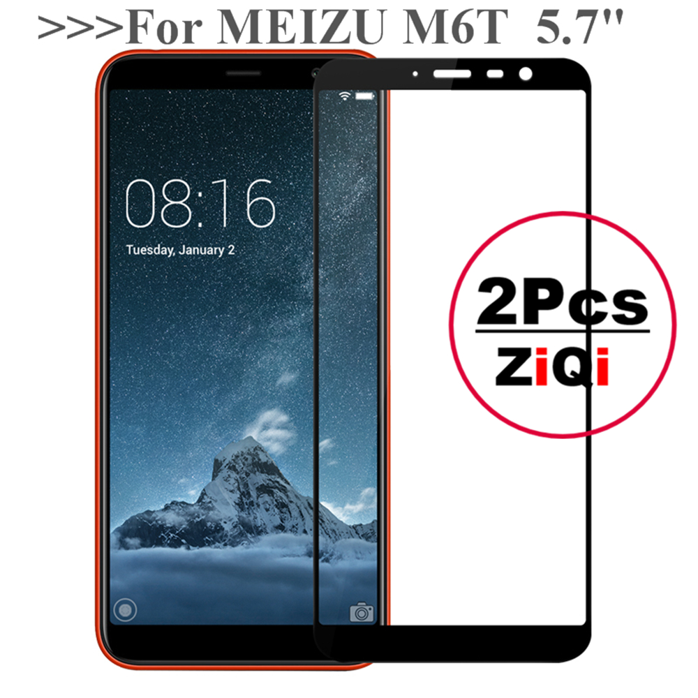 2PCS Screen Protector Glass For Meizu M6T 6T 5.7 inch HD Ful
