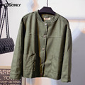 Suede Jackets 2017 New Plus Size 3XL 4XL 5XL Casual Short Style Single Breasted Women Basic Jacket Outerwear QYL172