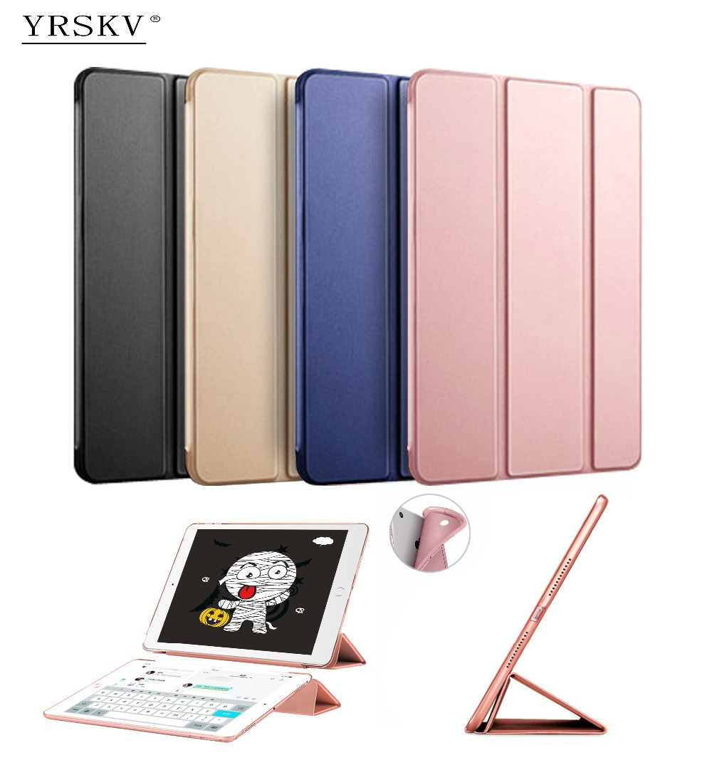 Case for iPad Air 2 (2014) YRSKV Ultra Slim Light weight PU leather cover + TPU soft silicone shell Smart Sleep Wake Tablet Case for ipad air 2 air 1 case silicone soft tpu back cover ultra thin slim pu leather smart cover for ipad air case