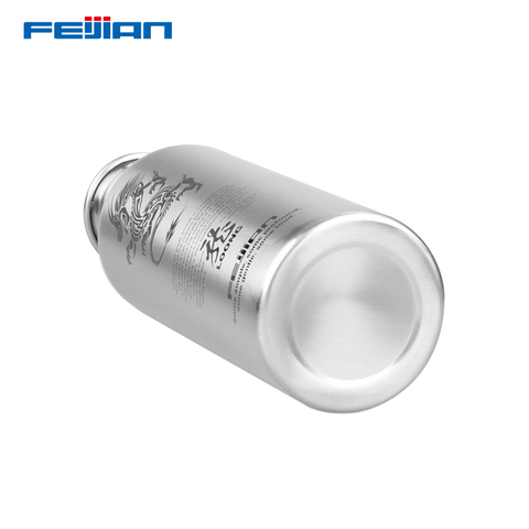 FEIJIAN Water Bottle 304 Stainless Steel Drink Bottle Wide Mouth Leak Proof Flask Kettle 750ml/1000ml for Tour Bicycle Camping Multan