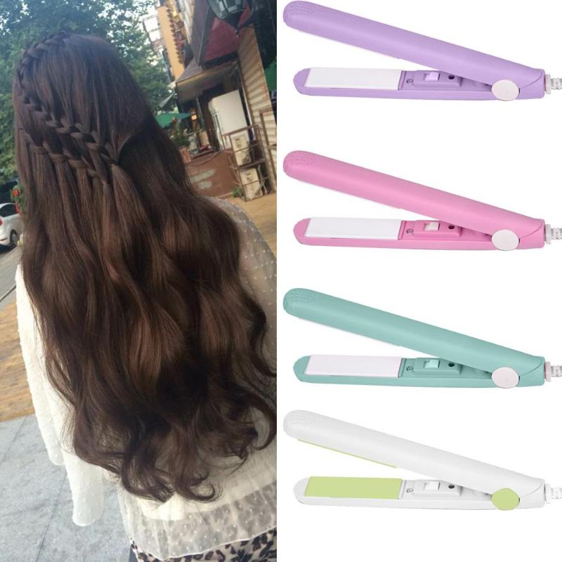 Mini Hair Straightener Electric Ionic Ceramic Hair Styling Curling Iron