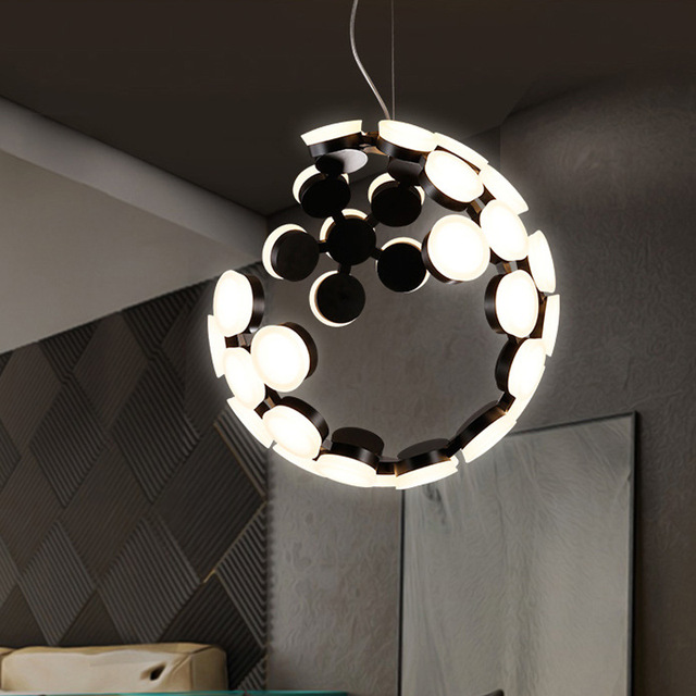 Us 768 0 The Moon Droplight Led Hanging Lighting Acrylic Artistic Originality Pendant Light Ly To Sitting Room Dining In Lights