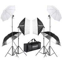 Neewer 800 Вт фотографии софтбоксы и зонтичное освещение комплект 24 дюйм(ов) софтбокс белый зонтик 45 лампы 88 Свет Стенд
