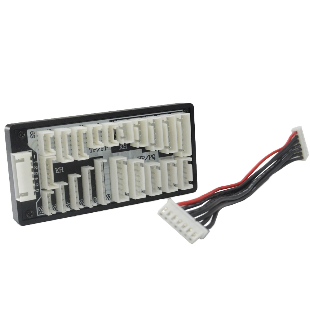 2-6s EH XH TP/FP HP/PQ with 7 pin JST XH cable leads Charger balance adapter board HTRC jst xh 2s 3s 4s 5s 6s lipo balance cable charging power wire 10cm