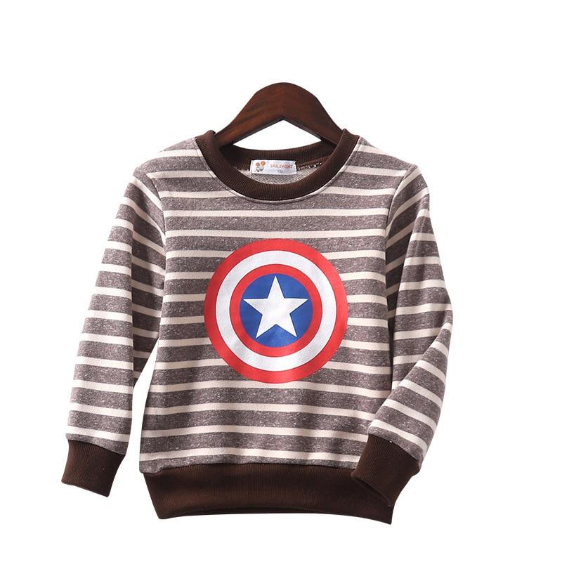 Sweater T-Shirt Wear-Print Long-Sleeve Girls Striped Boys Kids New Cotton 100-140cm Top