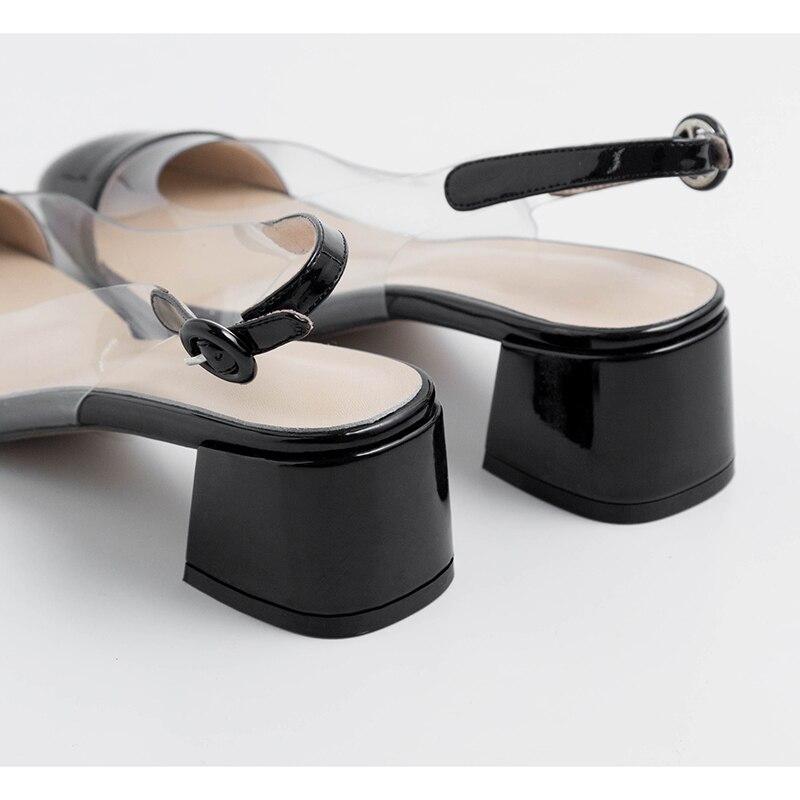 Robe Bout 2019 Pompes noir Clair Brevet Rond Cuir Med De Mariage En Femmes Kcenid Talon Nouveau Chaussures Beige Slingback Transparent D'été Beige w8Ok0nPX