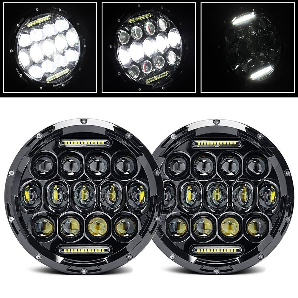 CO LIGHT 7 inch Angel Eyes Leds for Auto Lada Niva Headlight Uaz Jeep Wrangler Jk Automobiles Motorcycle Hunting Car Accessories