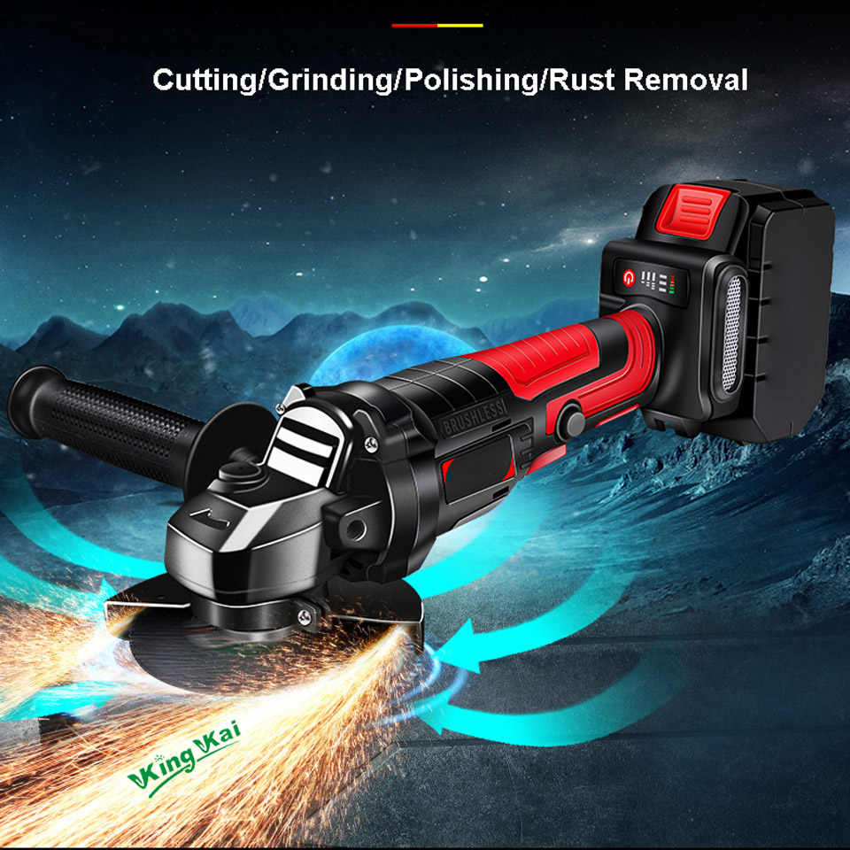 10000r/min Brushless Long Duration Cordless Hilti Electric Power Tools Samsung Battery Polish Sand Cutting Angle Grinder