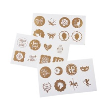 80pcs/lot White Bottom Vintage Gold Seal Sticker DIY Greeting Card Postcards Decorative Gift Label Stickers Scrapbooking