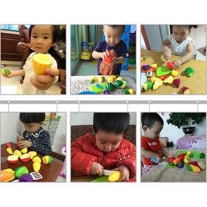 Image 5 - Nowy 1 zestaw bezpieczne dzieci bawią się zabawka domowa plastikowe zabawki w kształcie jedzenia wyciąć owoce warzywa kuchnia dziecko dzieci udawaj zagraj w zabawki edukacyjne