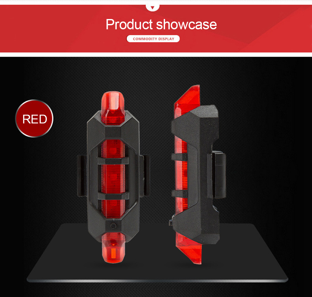 Rear-Lamp Tail-Light Bicycle-Safety Cycling-Warning Rechargeable Bike LED USB Hot-Selling