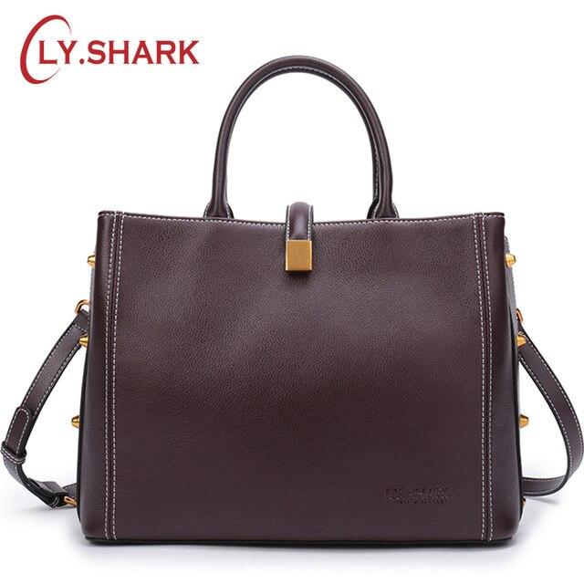 все цены на LY.SHARK Luxury Handbags Women Bags Designer Ladies' Genuine Leather Handbag Shoulder Bag Female Crossbody Bags For Women онлайн