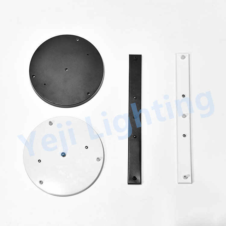 Circular ceiling plate Rectangular strip ceiling rose Wrought iron hanging plate 3 heads lamp base ceiling canopy led chandelier