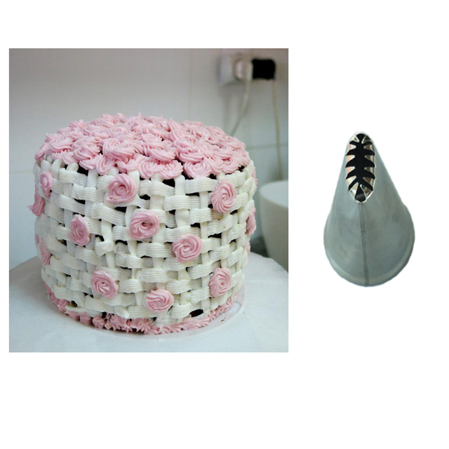 CP22 Basket Weave Steel Cream Icing Piping Nozzles Pastry Tips ...