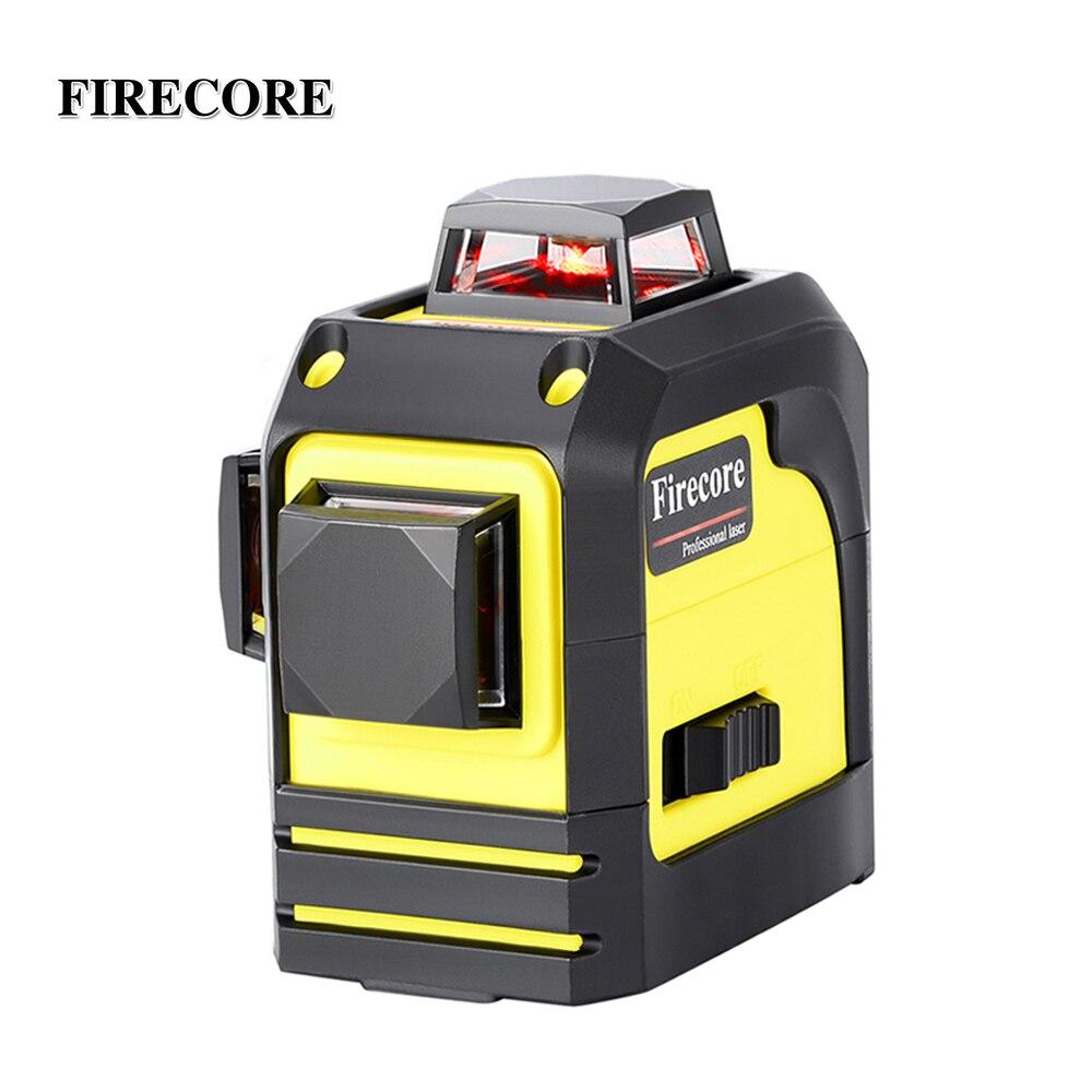 FIRECORE 12 Lignes 3D F93TR Niveau Laser Auto-Nivellement 360 Horizontal Et Vertical Croix Super Puissant Laser Rouge Faisceau ligne