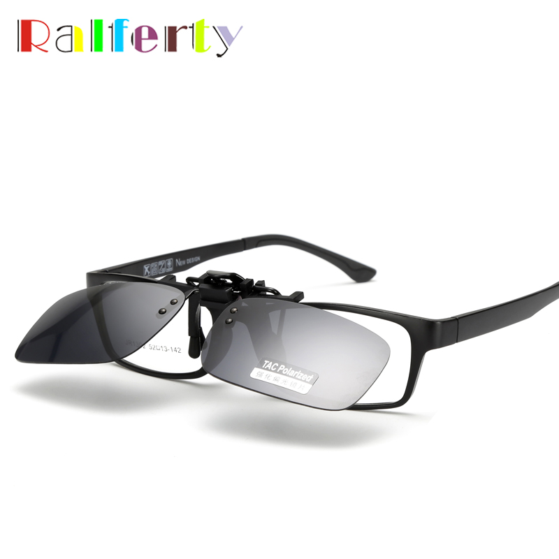 Polarized Clip On Sunglasses Night Vision Clip Driver Glasses Lens