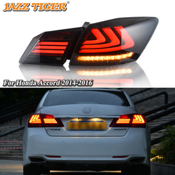 Rear Running Lamp + Brake Light + Reverse + Dynamic Turn Signal Car LED Tail Light Taillight For Honda Accord 2014 2015 2016