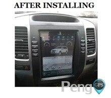Lecteur DVD Toyota Land Cruiser Prado 120 2002 -2009/Lexus GX470 2 Din Tesla Style 10.4 pouce Android 7.1 Voiture GPS Navigation