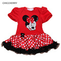 Shining Sequins Minnie Baby Girl Dress Toddler Lace Tutu Polka Dots Vestido Infantil Girls Dresses Summer 2016 Infant Clothing