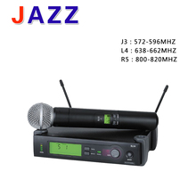 Üstün kalite UHF kablosuz mikrofon sistemi SLX24 58 el mikrofonu ev eğlence sahne Cara TAMAM KTV DJ mikrofon