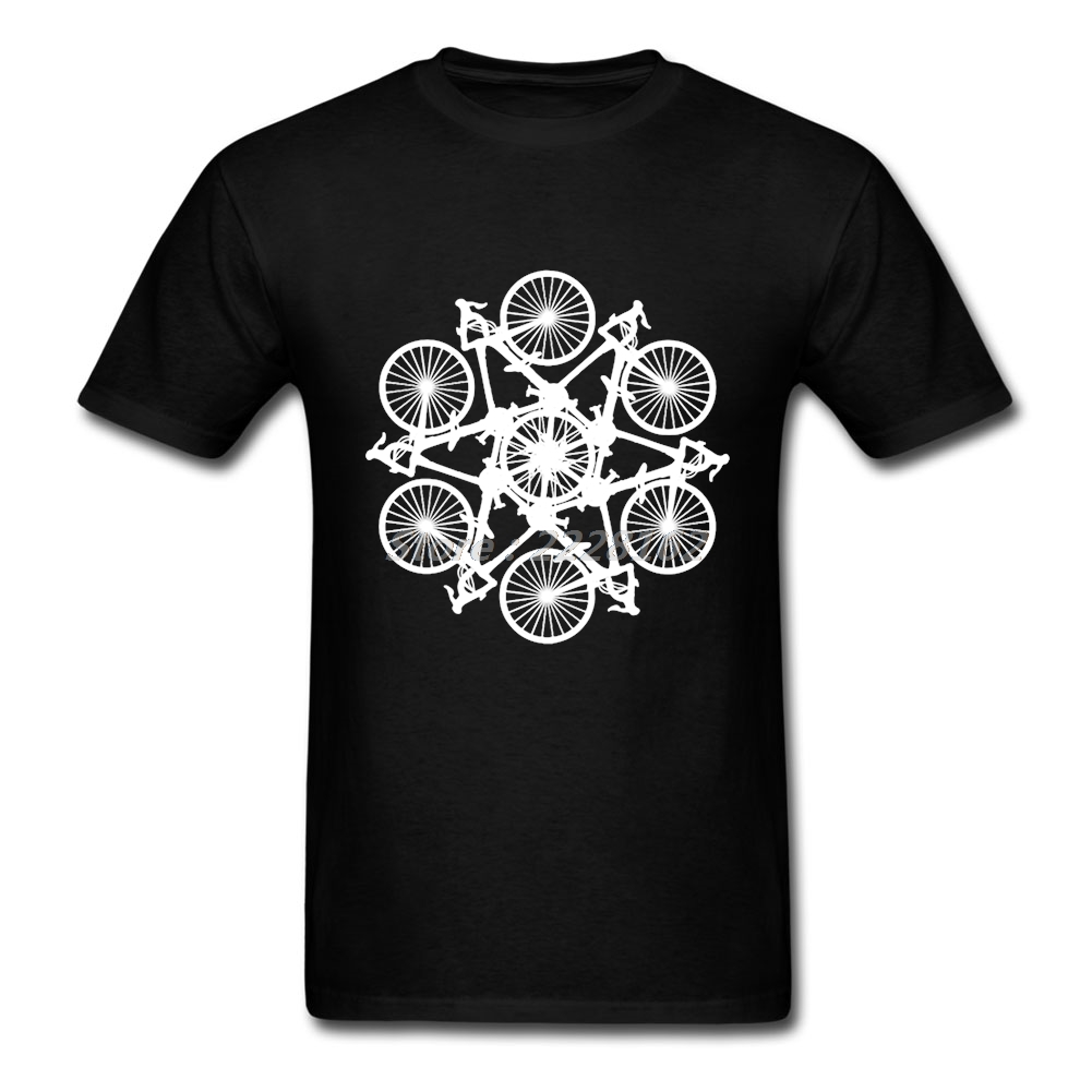 Adult Man Fitness Casual T Shirt Online Shopping Cycle Tops with Bicycle Circle Men Print T Shirts