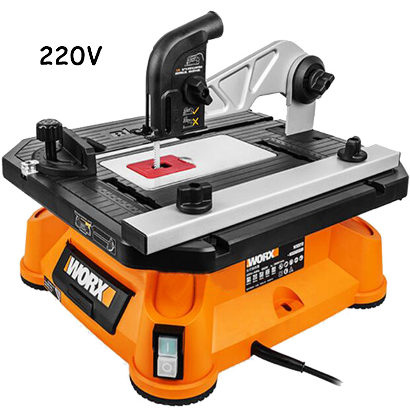 220 v multifonctionnel Table scie courbe scie Machine de découpe de bois scie outils électriques ménagers WX572