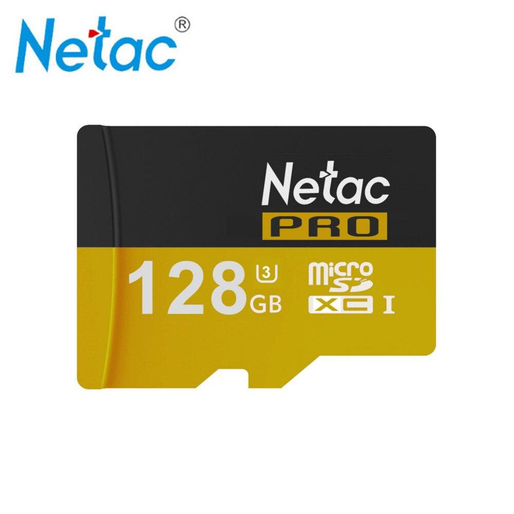 Netac Original PRO Micro SD Cards SDHC 64GB SDXC UHS-I U3 128GB Memory Cards Class10 TF Microsd Card For Cellphone Tablet MP3 2017 crazy hot micro sd card 64gb 128gb sdxc class 10 uhs i u1 memory card sdhc 8gb 16gb 32gb tf card microsd trans flash cards